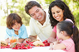 happy family redefining healthy meals