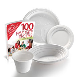 Value Pack Portion Control Bundle 100x plates cups bowls