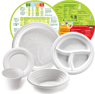 Eco Compostable Range plates for nutrition control